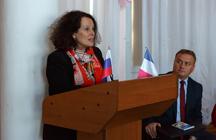 Визит посла Франции в России госпожи Сильви Берманн в Таганрогский институт имени А.П. Чехова (филиал) РГЭУ (РИНХ)